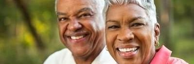 older couple smiling outside l best dentist in lakeland fl